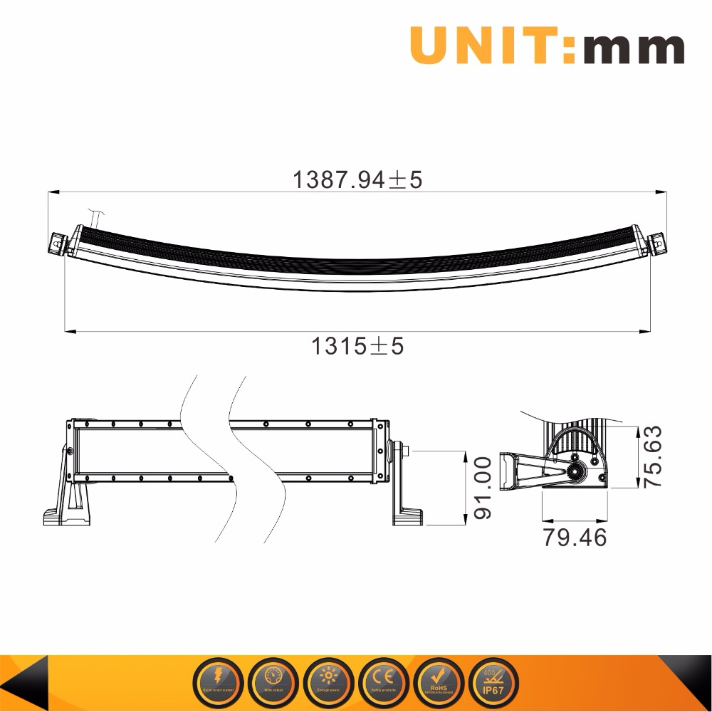 52inch 300w 18000lm curved led light bar 2pcs 20w 30 degree spot rh aliexpress com Simple LED Circuits LED Light Fixture Wiring Diagram