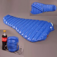 Aegismax Lengthened Blue Wing Mummy Sleeping Bag M2 Plus Ultralight White Goose Down Outdoor Camping Hiking