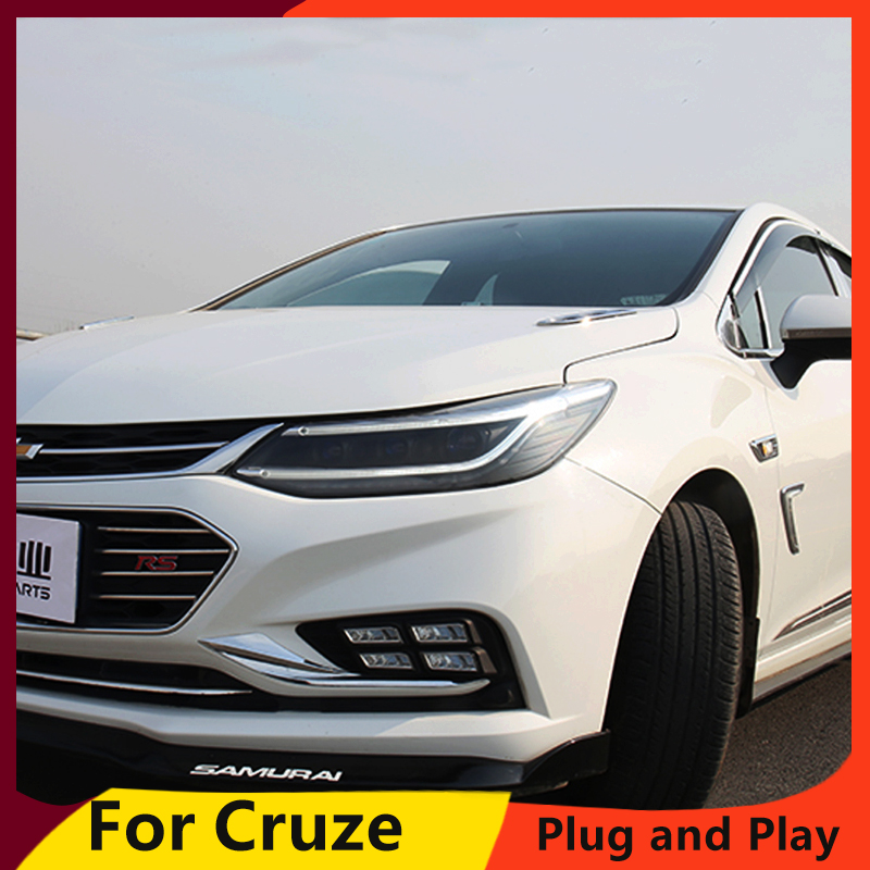 KOWELL Car Styling For Chevrolet Cruze 2017 2018 LED Headlight DRL Dynamic LED turn signal Bi