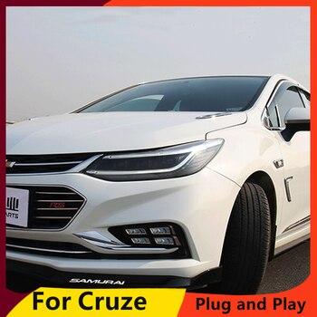 KOWELL Car Styling For Chevrolet Cruze 2017-2018 LED Headlight DRL Dynamic LED turn signal Bi Xenon Lens High Low Beam Parking