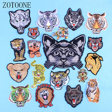 ZOTOONE Animal Applique Iron On Transfer For Clothing Beaded Embroidery Cool Patches Stickers