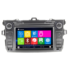 wince 6.0  car dvd player FOR Toyota corolla 2006-2011 in dash 2 din Car Rear camera Gps navigation steering wheel control RDS
