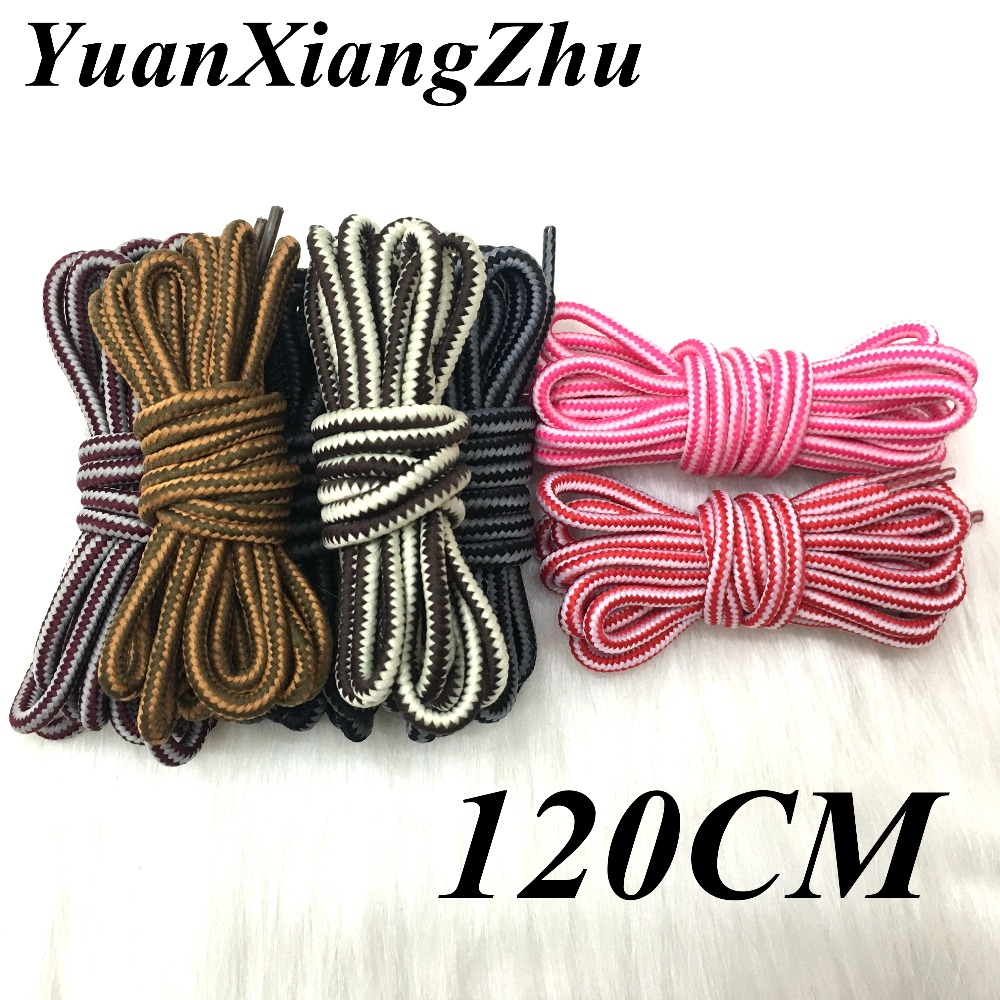 New outdoor sport casual multicolor round shoelaces hiking slip rope shoe laces sneakers shoelaces skate boot shoe laces strings new woman pink flat shoelaces trainer sport boot shoe laces 2 pairs
