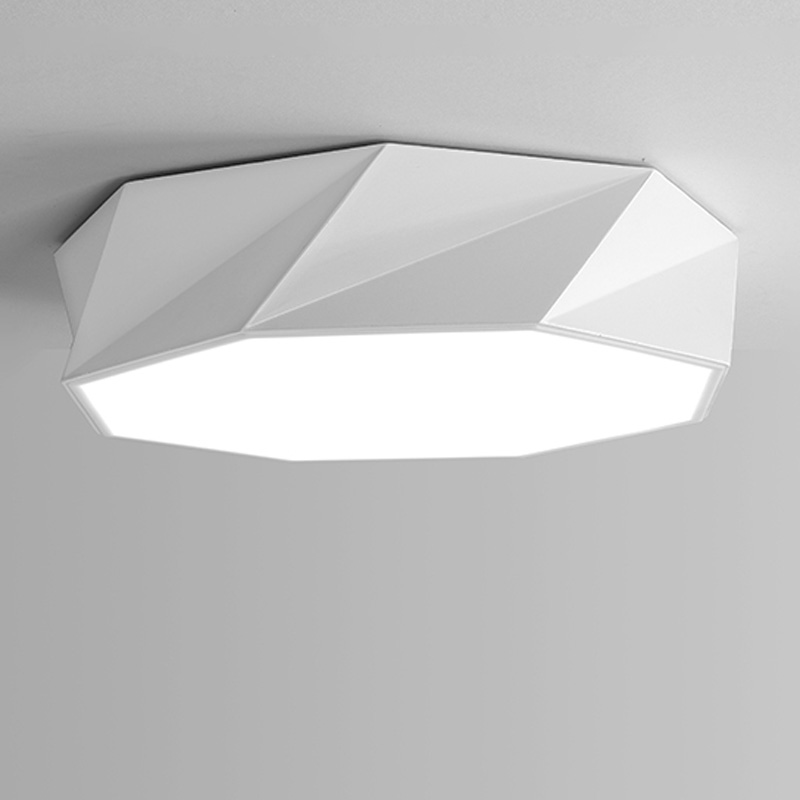 24W led Ceiling Lamp Modern Bedroom Living Room Lights Fixtures Black White Iron Acrylic Lampshade Home Lighting 110-220V new modern led ceiling lights for living room bedroom plafon home lighting combination white and black home deco ceiling lamp