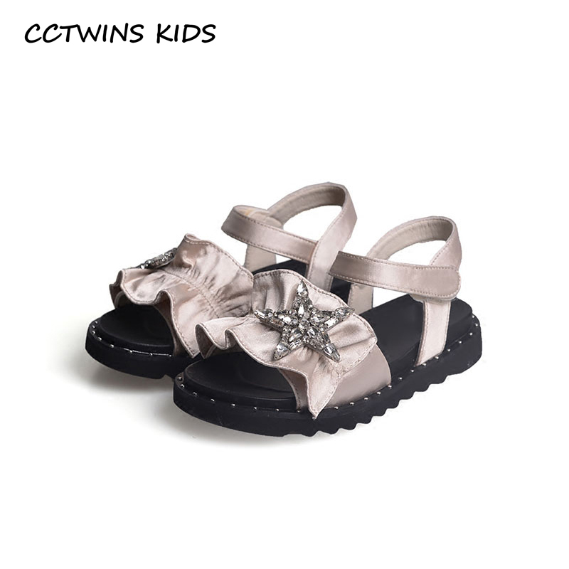 CCTWINS KIDS 2018 Summer Girl Fashion Rhinestone Princess Sandal Children Black Star Shoe Toddler Brand Flat Baby BP074CCTWINS KIDS 2018 Summer Girl Fashion Rhinestone Princess Sandal Children Black Star Shoe Toddler Brand Flat Baby BP074