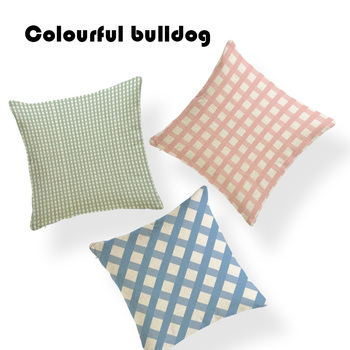 Wholesale Geometry Cushions Pink Ellipse Diamonds Line Throw Pillows Home Office Sofa Polyester Blend Decoration Cushion Covers