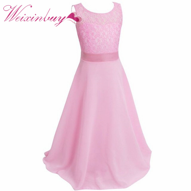 2017 Flower Girls Dress For Girls Princess Birthday Party Dresses Kids Wedding Dress Girl Summer Tutu Dress Children Clothes brwcf flower girls dress for party wedding birthday 2017 summer princess dresses leopard printing children clothes 2 8years