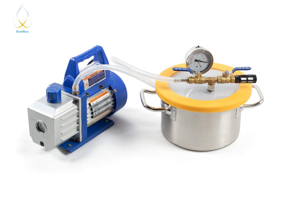 0.8 Gal (3.1L) Chamber 1.5L/s  Rotary  Single Stage Mini Vacuum Pump. Stainless Steel Vacuum Chamber Silicone Degassing Epoxy