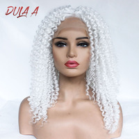 Wig White Curly Wig Perucas Front Lace Hair Synthetic Lace Wigs For Black Women Curly Wig