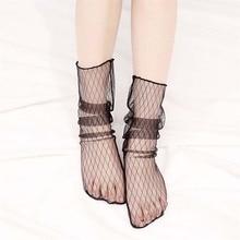 3Pair Lace Socks Women Sexy Vintage Ankle Kawaii Socks for Girls Transparent Socks Lady Funny Socks Transparent Elastic Hosiery