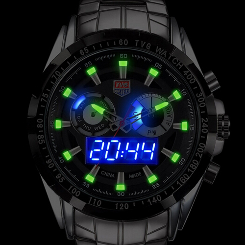 TVG Hommes Montre 2018 Bracelet À Quartz Montres Robe Mâle LED Horloge Célèbre Marque De Luxe En Acier Inoxydable Quartz-montre Relogio cadeau Boîtes