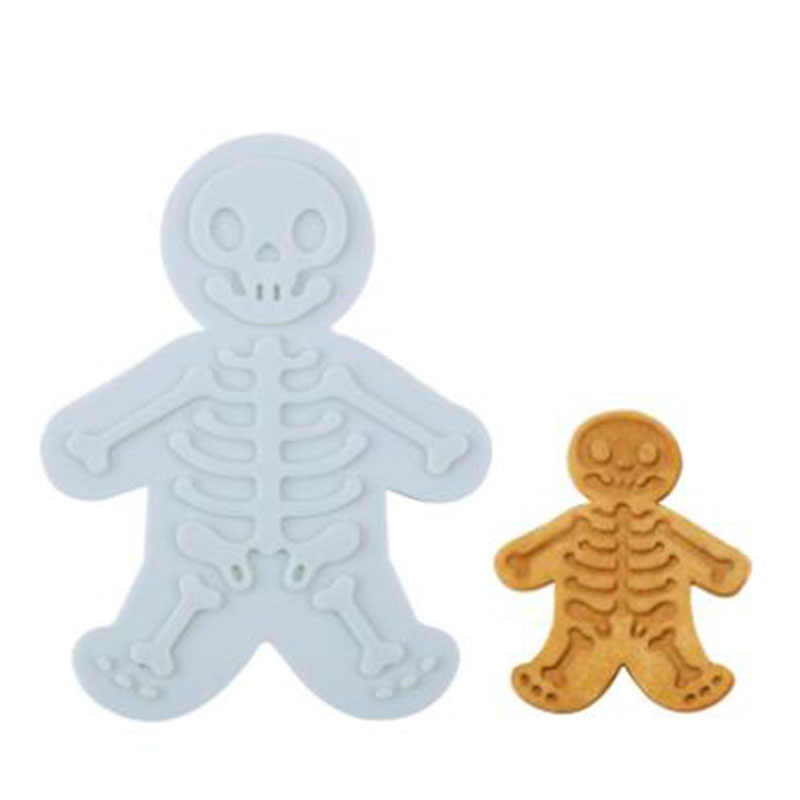 mling 1PCS Halloween Gingerbread Skeleton Cookie Cutter Biscuit Mold Fondant Pastry Dough Cutters Cake Decoration Supplies