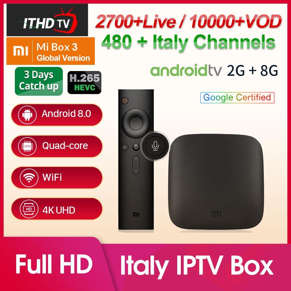 Italy IPTV Xiaomi Mi Box 3 IPTV Arabic Italian IP TV Spain Belgium Africa IPTV Italy France Turkey IP TV XiaoMi TV Box UAE IP TV-in Set-top Boxes from Consumer Electronics