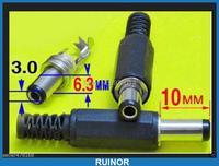 10 STÜCK 9mm x 6 3mm x 3mm Dc-stecker für Ladegerät Stecker Kabel Löten