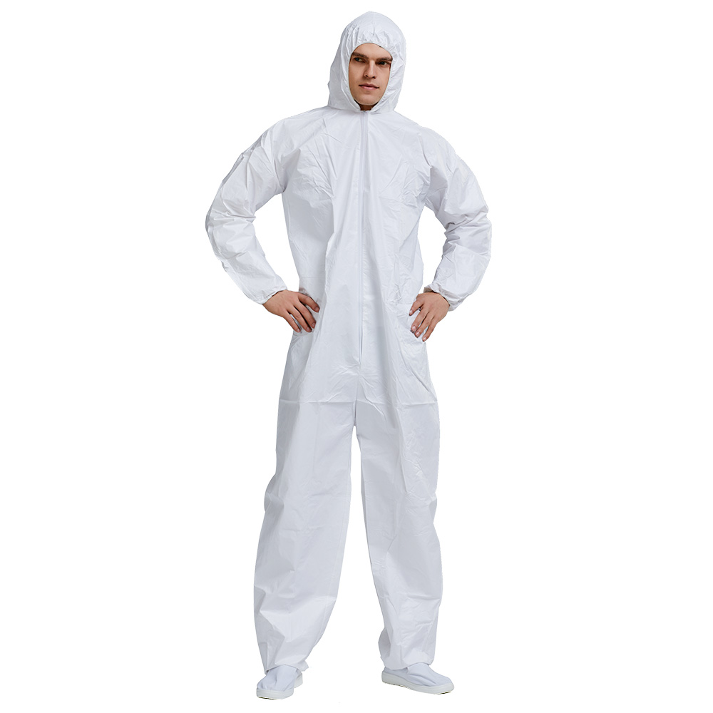 Disposable PP And PE Coveralls Workwear Overall Protective Disposable Clothing