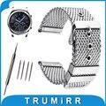 22mm milanese sainless steel watch band para samsung gear s3 Classic/Fronteira Cinta Pin Fivela Correia de Pulso Pulseira Preta prata