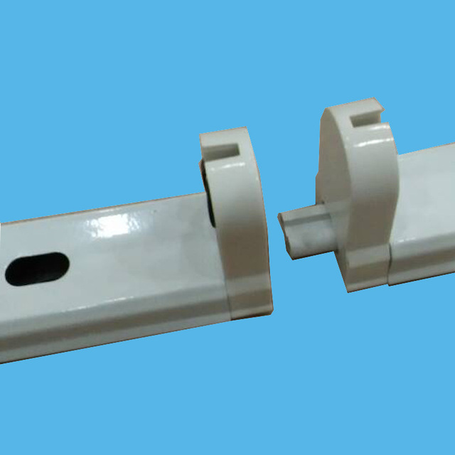 dd19ebdc02b free shipping High quality aluminum housing T8 LED TUBE installation holder  fixture with wire inside