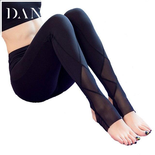 d488af18d33ed Women Fitness Running Step Foot Pants Sports Leggings Sweat Wicking Yoga  Pants Elastic calzas deportivas mujer Tights Female