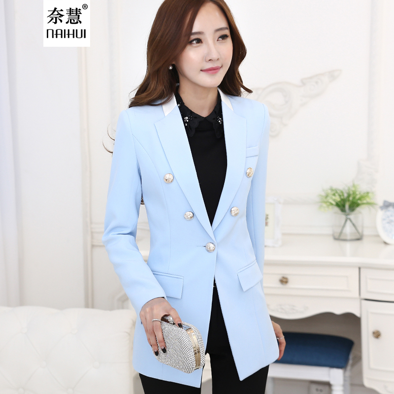 Light Blue Blazer Womens Photo Album - Reikian