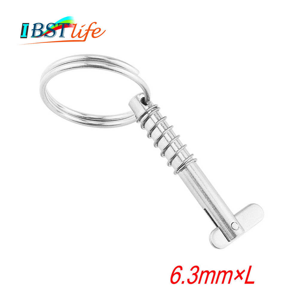 6.3mm BSET MATEL Marine Grade 316 Stainless Steel Quick Release Pin For Boat Bimini Top Deck Hinge Marine Hardware Boat