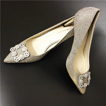 Size 4~8 Charm Wedding High Heels Women Pumps Classic Autumn Golden Silver Women Shoes zapatos mujer