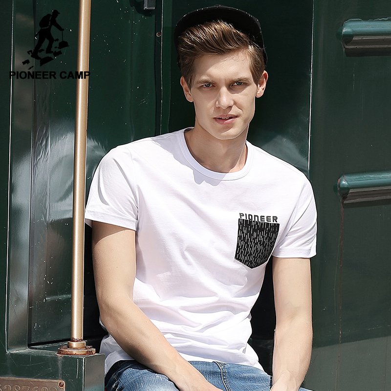Pioneer camp new white summer t shirt men brand clothing for Best quality mens white t shirts