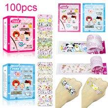 100PCS Impermeabile Traspirante Cute Cartoon Adesivo Bende Medicazione della Ferita di Primo Soccorso Adesivi Per I Bambini Bambini