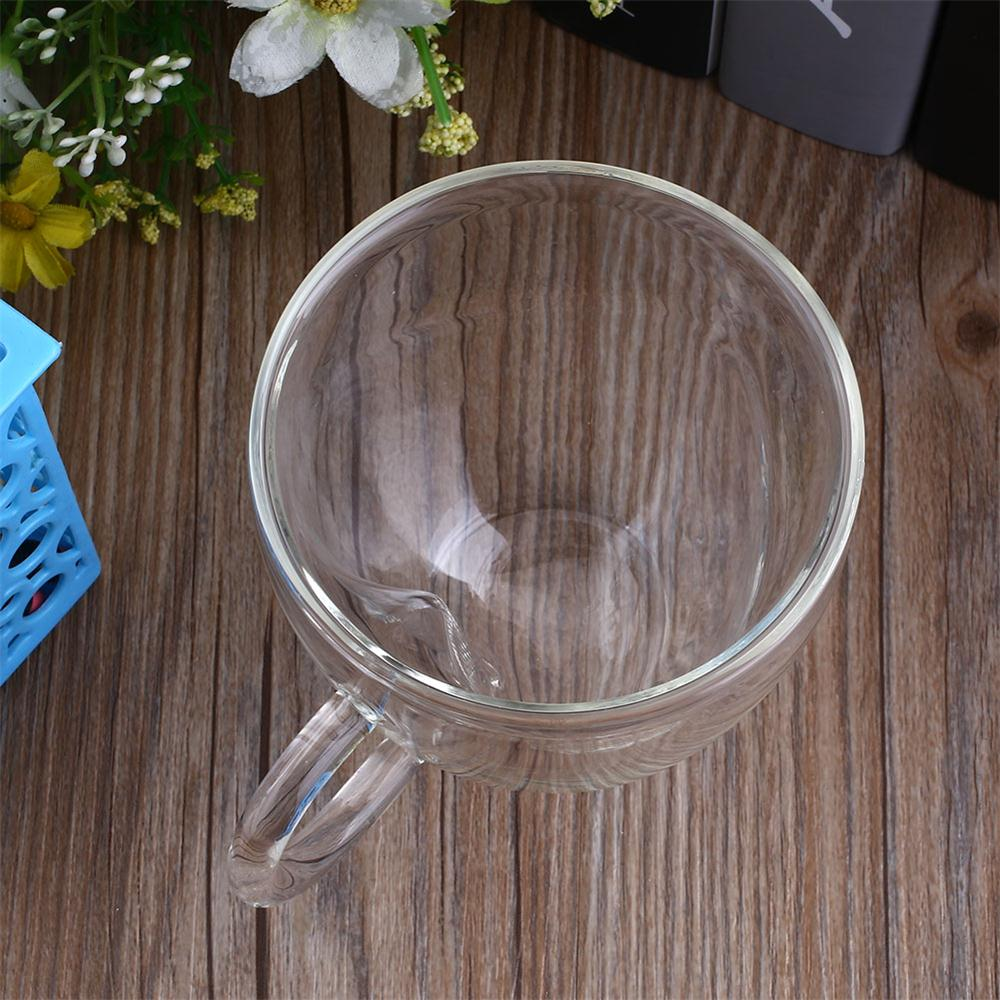 240 мл, двухслойная прозрачная стеклянная чайная чашка с сердечком, кофейная кружка, подарок, элегантная прозрачная чашка для питья, термостойкая