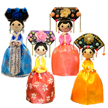 Slime Clay Slime Fluffy Chinese Style Doll With Dress And DIY Colorful Clay Handmade 4 sets New Arrival DOLLRYGA Slime Doll Set