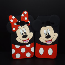 Fashion 3D Cartoon Phone Cases Minnie Mickey Mouse Covers For Samsung Galaxy S3 S4 S5 S6 S6 S7 Edge NOTE 3 G530 A5 A7 J5 J7 2016