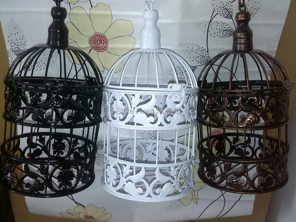 Wrought Iron Bird Cage Wall Birdcage Flower Decoration Fashion Clic Decorative Cages
