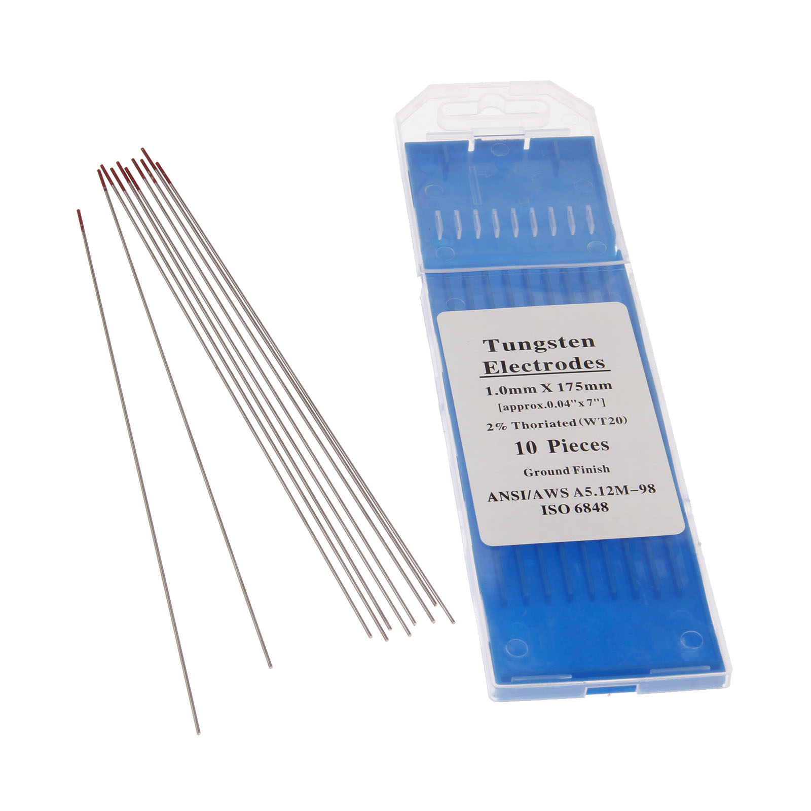 Red White Black 4.0mm 1.0mm Tig Welding Electrodes Tungsten Electrodes Gold 10, Grey 1.2mm Grey