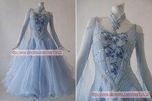 Ballroom Dance Dresses Women Sexy Backless Profession Tango Flamenco Waltz Modren Competition Skirt