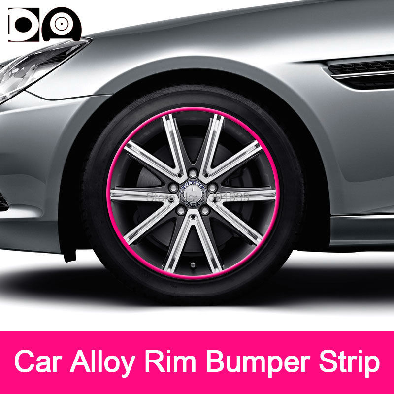 8 meters Car Alloy Wheel Rim Bumper Strip for Land Rover Range Rover Discovery 4 3 Freelander 2 Defender LR2