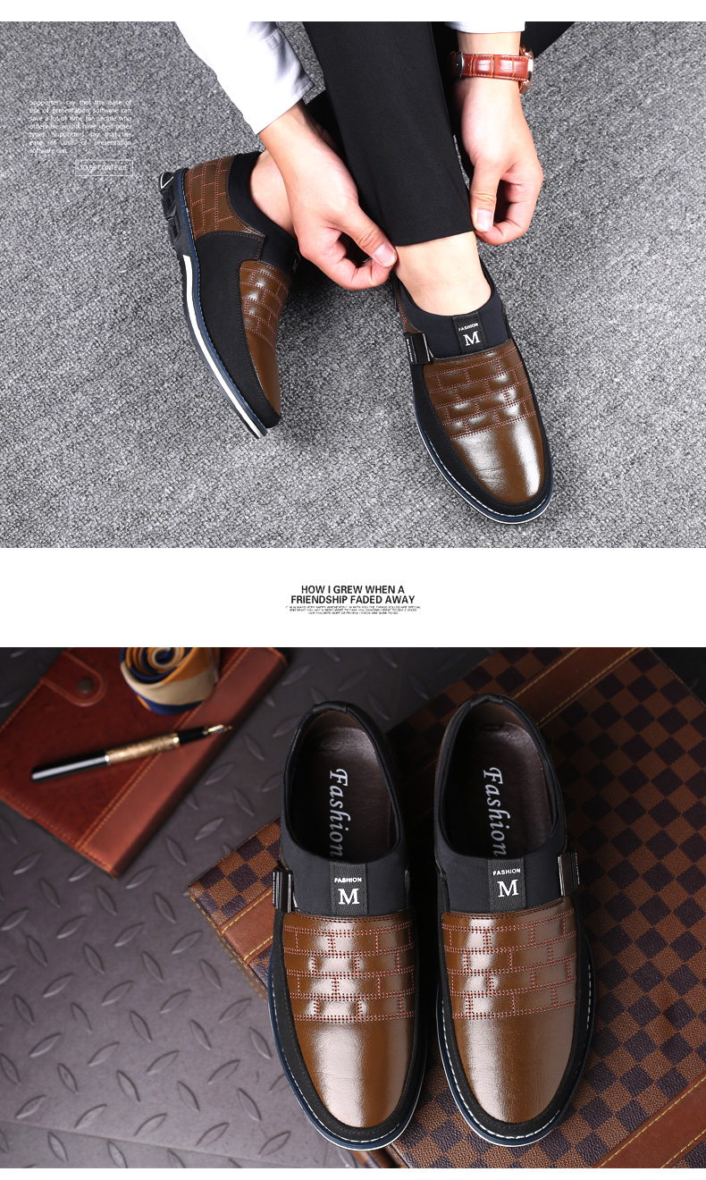 ZUNYU New Big Size 38-48 Oxfords Leather Men Shoes Fashion Casual Slip On Formal Business Wedding Dress Shoes