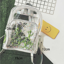 цены Harajuku Transparent Laser PVC Backpack Women Bookbag Laser Alien Star Women Travel Backpack Clear Itbag Bag For Teenage Girls