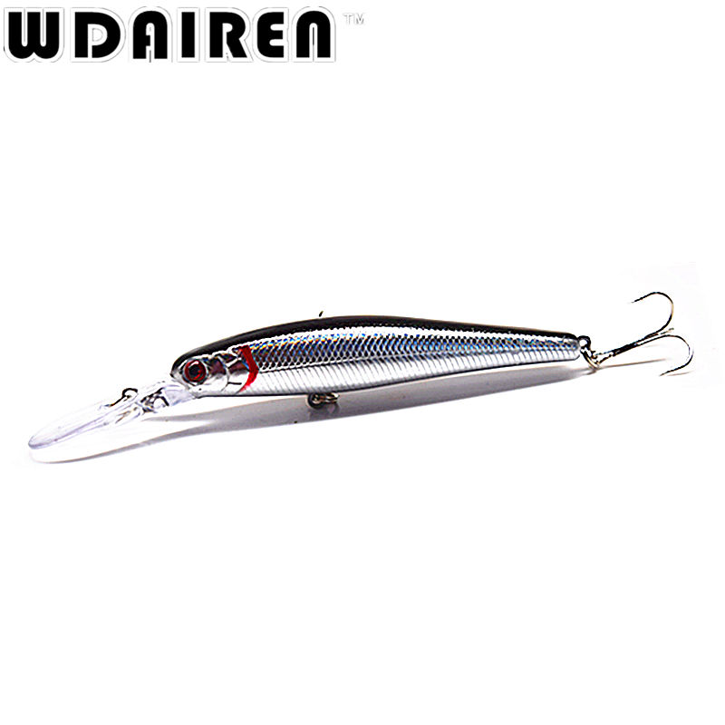 1Pcs Laser Minnow Fishing Lure 12.5cm 14g pesca hooks fish wobbler tackle crankbait Artificial japan hard bait swimbai ST-244 1ps minnow fishing lures deep isca artificial wobbler crankbait for fish lure hard fake bait pesca tackle hooks sea 14 5cm 12 7g