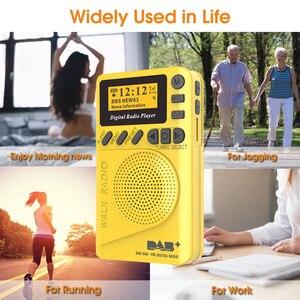 Image 3 - מיני כיס דיגיטלי DAB רדיו FM מקלט RDS נייד MP3 נגן עם LCD תצוגת מסך תמיכה TF כרטיס שינה זמן סט
