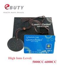 Самое дешевое! EBUTY 6000CC Кулон Квантовая энергия ионы заживление здоровья ювелирные изделия лава каменная подвеска подвески