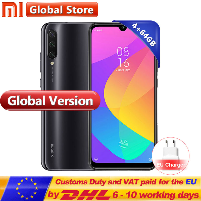 "In Stock Global Version Xiaomi Mi CC9E 4GB 64GB Mobile Phone Snapdragon 665 Octa Core 6.088"" 48MP+32MP Camera 4030mAh(China)"