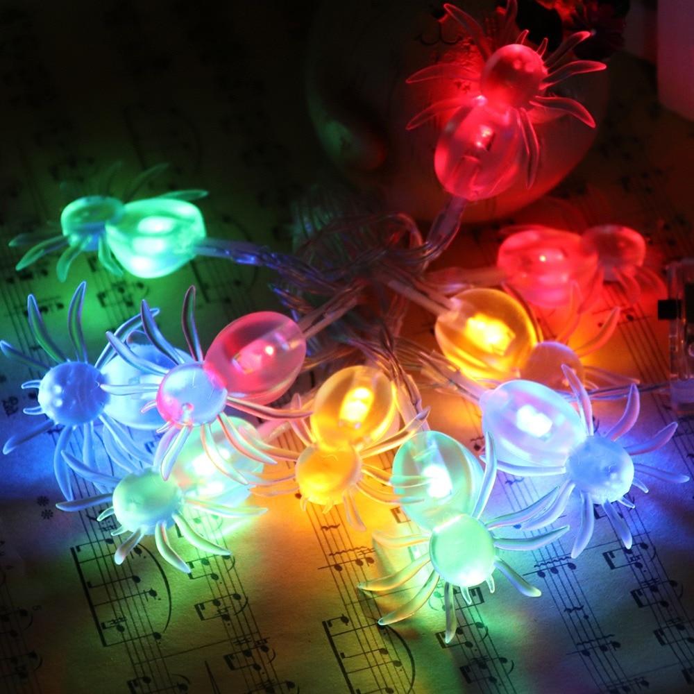 Halloween Props 1M LED Strenge Lys Holiday Creative Dekorative Lights - Ferie belysning - Foto 5