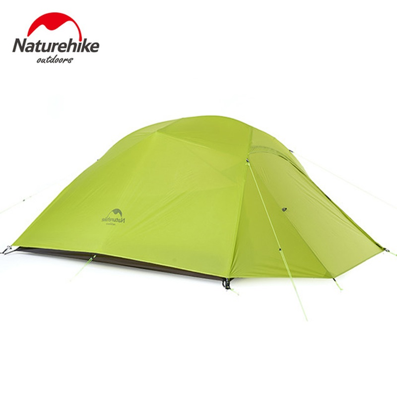 Naturehike ultralight 3 person tent outdoor camping snow skirts tent waterproof large capacity tents with camping mats image