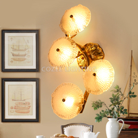 Brass Wall Sconce Lamp Copper Wall Light LED Chandelier Wall Lighting Foyer Lighting for Home Hotel Living Dining Room Decor