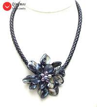 Qingmos Трендовое ожерелье с подвеской в виде цветка для женщин