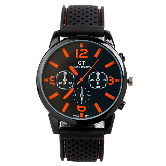 e5540671e37 Novo relógio moda neutros homens e mulheres pulseira de borracha esportes  relógio de quartzo de aço