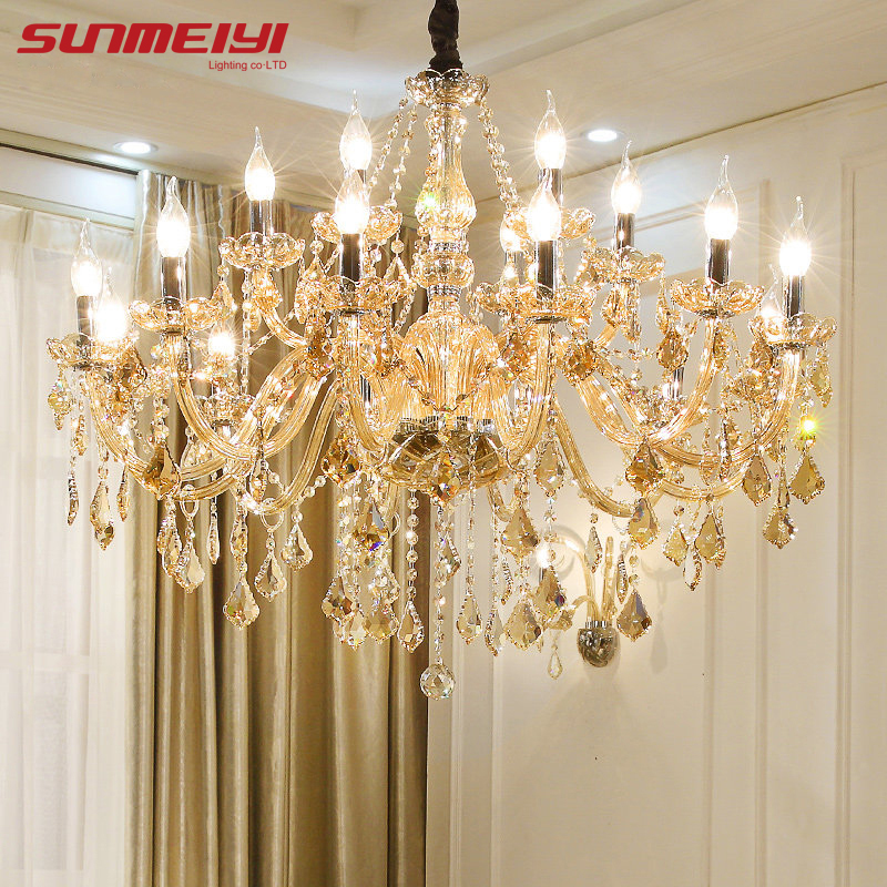 Candelabros de cristal modernos, lustres de iluminación para el hogar, decoración de cristal, candelabros de lujo, colgantes de candelabro para sala de estar, lámpara de interior