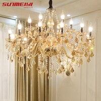 Modern Crystal Chandeliers Home Lighting lustres de cristal Decoration Luxury Candle Chandelier Pendants Living Room Indoor Lamp