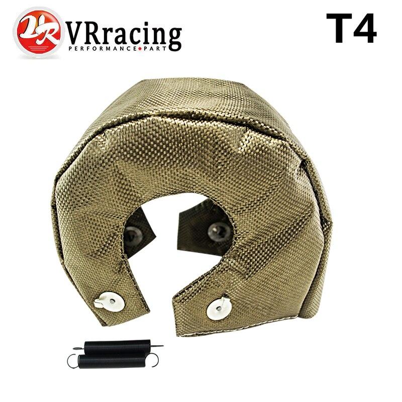Prix pour VR RACING-100% FULL TITANIUM turbo bouclier thermique couverture T4 turbo couverture fit: t4, gt40, gt42, gt55, t6, t66 turbo chargeur VR1304-2T