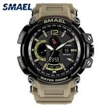Новые водонепроницаемые часы в армейском стиле 50 M S шок устойчивы спортивные часы Саат цифровые часы Для Мужчин Армия 1702 массивные мужские часы спортивные