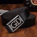 Alta qualidade Cowskin genuínos mulher correia 2016 ocasional marca de luxo cintos de couro para mulheres tira de Metal fivela Cinturones Hombre